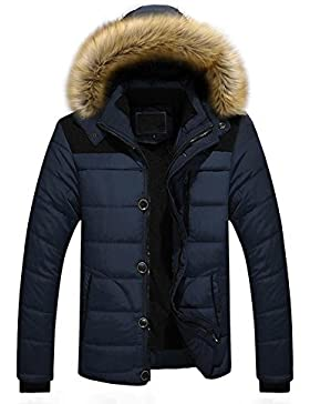 FNKDOR Abrigos de los hombres nuevos, Nuevo chaqueta gruesa de la chaqueta del invierno de la capa gruesa del...