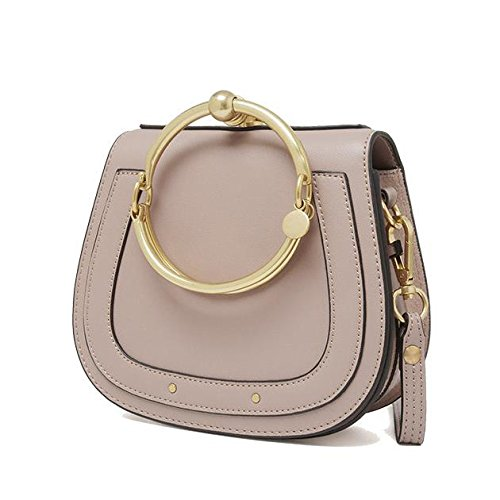 Genuine Leather Modo Anello Borsa Singola Spalla Crossbody Bag Piccolo Per Le Donne Caramel2