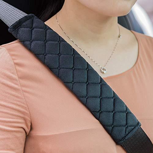 Premium Auto Gurtpolster im Zweierpack,Polsterung für Sitzgurt im Auto,Damit Sie und Ihre Familie eine entspannte Reise haben - auch für Kinder geeignet (Schwarz) - Für Kinder Sicherheitsgurt Polster