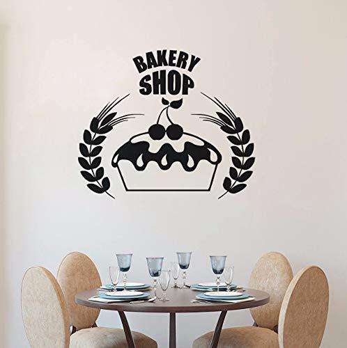 (Dalxsh Bäckerei Logo WandaufkleberDekor Küche Cafe WandKuchen Design Wandbild Bäckerei Fenster Vinyl Aufkleber 57X48 Cm)