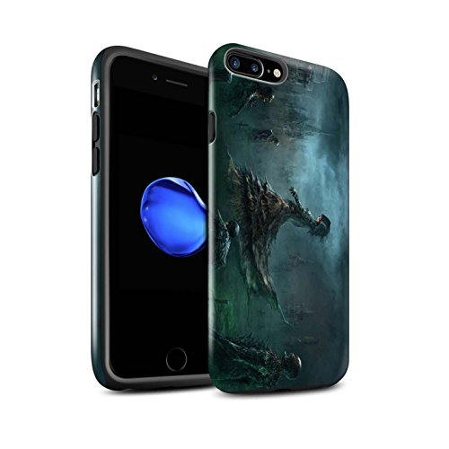 Offiziell Chris Cold Hülle / Glanz Harten Stoßfest Case für Apple iPhone 7 Plus / Sonnengott/Reben Muster / Unterwelt Kollektion Banshee/Hexe-Königin