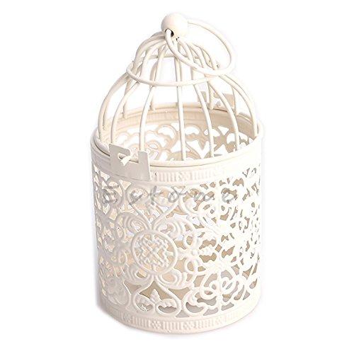 kangnice Creative Hohl Aufhängen Kerzenhalter Vogelkäfig-Laterne Brautschmuck Decor Crystal Kerzenhalter Wandleuchte