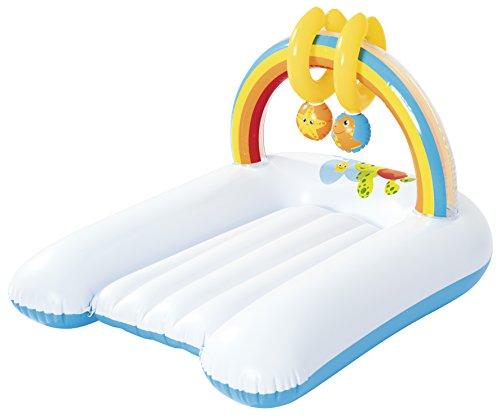 Bestway Up, In & Over Rainbow 81 x 63 x 46 cm, table à langer de voyage avec arche de jeu et 2 jouets inclus