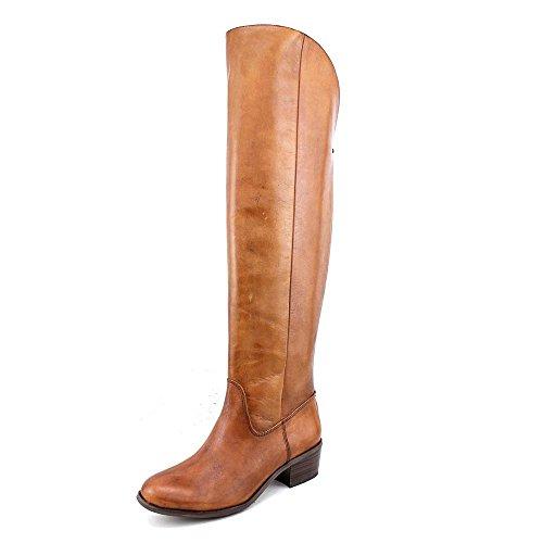 INC International Concepts Beverley Rund Leder Mode-Knie hoch Stiefel Cognac