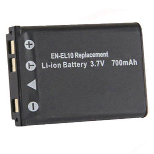 Amsahr Digital Replacement Battery for Nikon ENEL10, Coolpix S80, Coolpix S200 - En-el10 Lithium-batterie