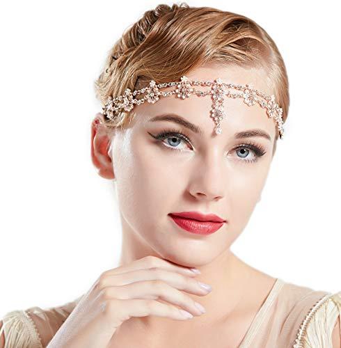 Coucoland 1920s Stirnband Damen Gatsby Accessoires Retro