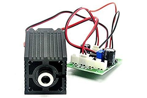 12V 532nm Green High Power Dot Laser Module 100mw TTL 0-30K HZ + Adapter