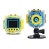 Hejiahuanle Kinder-Sport-Action-Kamera, wasserfest, digital, 1,77 Zoll LCD-Bildschirm, für Jungen und Mädchen, Weihnachten, Geburtstagsspielzeug, blau