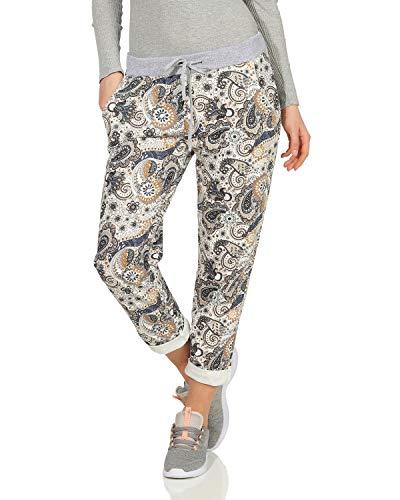 46bdab4e72 ZARMEXX Pantalón de chándal para Mujer Pantalón de Verano de Baggy  Boyfriend Estampado Completo de un