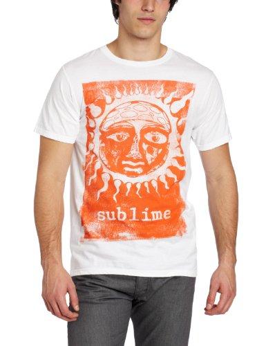 FEA Herren T-Shirt Sublime Orange Sun Glow - Weiß - Klein