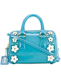 Furla Mujer 869509 Azul Claro Pvc Bolso De Mano