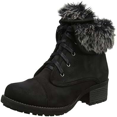Lotus Women's Bijou Boots, (Black/Fur), 3 UK 36 EU