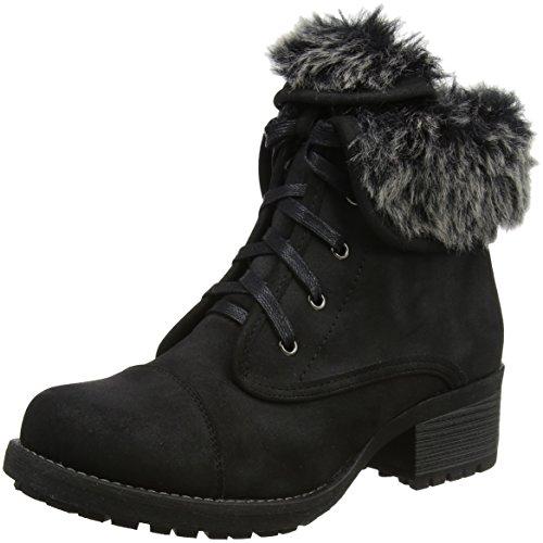 Lotus Women's Bijou Boots, Black (Black/Fur), 6 UK 39 EU
