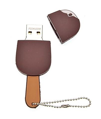 FEBNISCTE 16 Go Clés USB 2.0 Mémoire USB Glace au Chocolat
