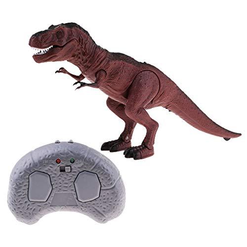 FLAMEER Giocattolo Del Dinosauro Ambulante Telecomandato A Infrarossi Con Testa Mobile, Luce E Suono - T-Rex, Taglia unica