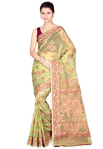Chandrakala Pure Banarasi Weaves -Light Green Saree (7491)