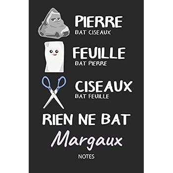 Rien ne bat Margaux - Notes: Noms Personnalisé Carnet de notes / Journal pour les filles et les femmes. Kawaii Pierre Feuille Ciseaux jeu de mots. ... de noël, cadeau original anniversaire femme.