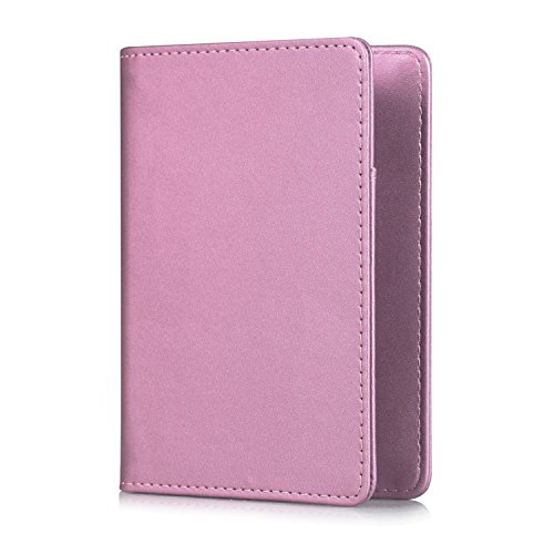 Reisepass-Halter Xuanbeier Passhülle Reise multifunktional Reisepass Kreditkarten Bankkarte Reisedokument Hülle Halter (pink) (Reisedokument)