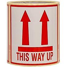 """100 Aufkleber """"This Way Up"""" Diese Seite Nach Oben Versandetiketten Große 10x10CM - 100 Stück"""