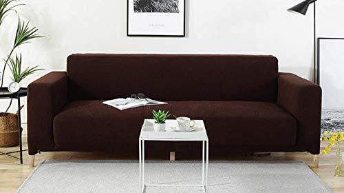 Funda elástica para sofá de marrón 1/2/3/4 plazas Color sólido universal todo...
