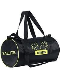 "SALUTE "" New Basic"" 22 Ltrs Black Duffel Gym Bag Backpack"