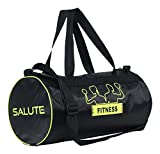 #8: Salute Basic New Polyester 30 Liters Black travel bag Sports gym Duffel bag