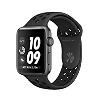 Apple Watch Nike+ Series 3-42mm Space Gray Aluminum Case with Anthracite/Black Nike Sport Band, GPS, watchOS 4, MQL42