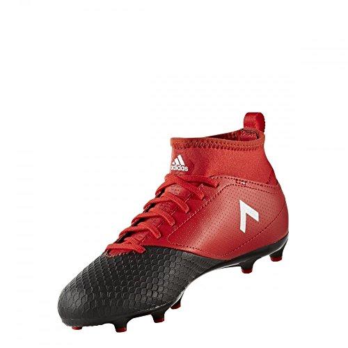 adidas  Ace 17.3 Fg J, Chaussures de Football Entrainement Unisexe - enfant noir,rouge