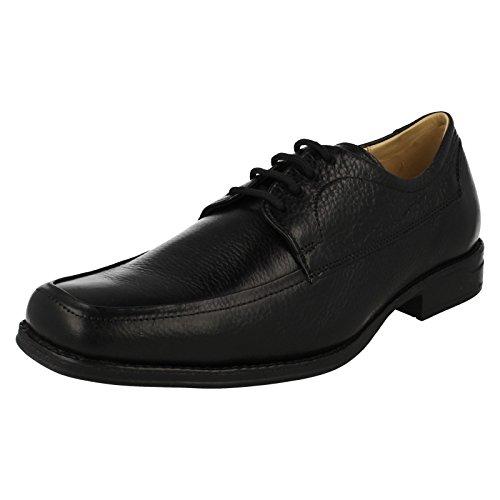 & anatomique pour homme Co en cuir à lacets de chaussures-Novais Noir