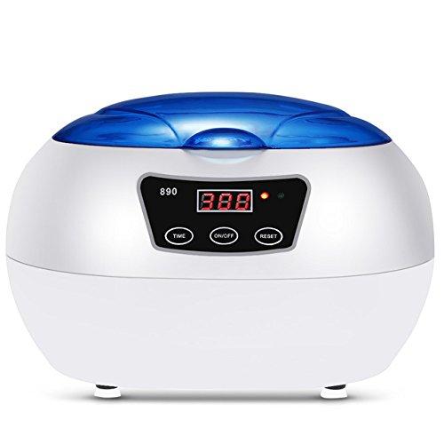 CGOLDENWALL 600 ml JP-890 Ultraschall-Waschmaschine, professionelle Waschausrüstung mit Entschlack-Heizung, Timer Ultraschallreiniger für Schmuck, Uhren, Zahnmittel