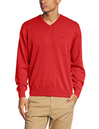 CASAMODA Pull-over Col V Manches longues Homme Rouge (rot 435)