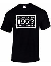 T-Shirt Anniversaire Homme Fabriqué En 1952 Pièces d'Origine