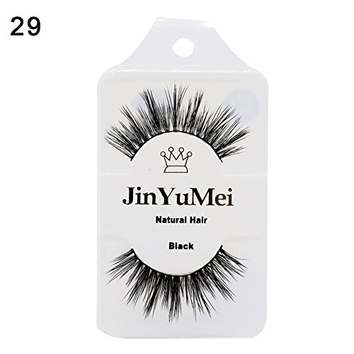 Oce180anylv women \ 's makeup 3d natural mink fur false eyelashes upper lashes extension black