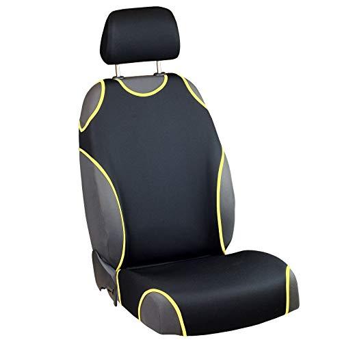Zakschneider Coprisedile per Ypsilon - Coprisedile Anteriore Sedile del Conducente - Colore Premium Nero e Giallo