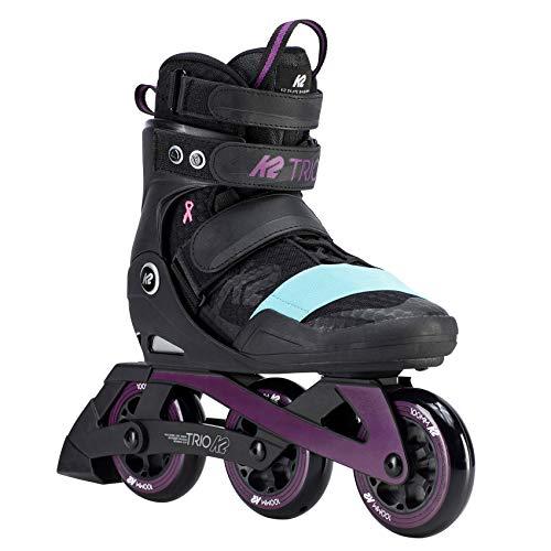 K2 Damen Inline Skates TRIO 100 W - Schwarz-Lila-Türkis - EU: 38 (US: 7.5 - UK: 5) - 30D0160.1.1.075