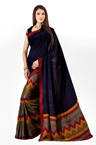 Sarees (Woman`s Clothing Saree For Woman Latest Desigen Wear Sarees Collection In Multi-Color Bhagalpuri Silk Material Latest Sarees With Designer Blouuse Free Size Beautiful Bollywood Sarees For Woma