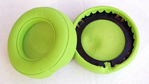 2 cuscini di ricambio per auricolari, in pelle, per Beats Mixr / Monster Beats Mixr, verdi