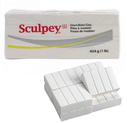 Sculpey Polymer Clay 1 Pound (Sculpey III Polymer Clay 1lb-White)