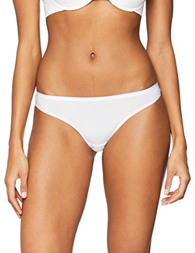 Iris & Lilly Damen Body Smooth Tanga, 5er Pack, Mehrfarbig (White/Fiery Red/Spanish Villa/Maritime Blue), X-Large