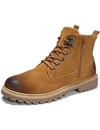 436b1d1009a Moda de Invierno para Hombre Botines de Cuero Caliente Hombres Botas de  Nieve Impermeables Ocio Martin