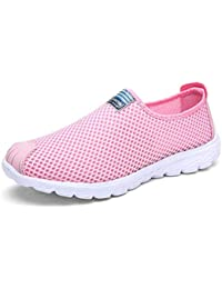 6791c6a77da2 Fuxitoggo Men Loafers Shoes Breathable Mesh Lightweight Flats Casual Male  Shoes (Color   Pink