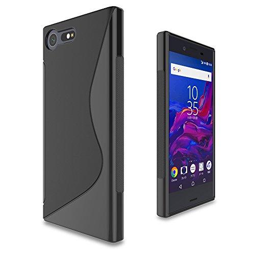WOEXET Hülle für Sony Xperia X Compact Schutzhülle Hochwertigem Stoßfest Anti-Fingerabdruck Anti-Scratch dünn samtartig TPU Handyhülle S-Line Design Schwarz