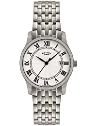 Rotary Men's Quartz Watch with Silver Dial Analogue Display and Silver Stainless Steel Bracelet GB00792/21