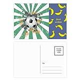Radial Fußball Sport Banana Postkarten-Set, Dankeskarte, Mailing-Seite, 20 Stück