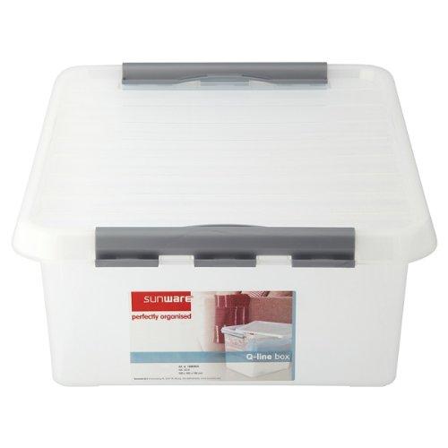 Preisvergleich Produktbild Sunware Perfekt organisierte Q-Line Box 25 Liter (Packung mit 6 x SGL)