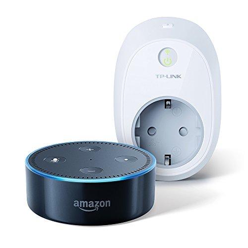 Amazon-Echo-Dot-2nd-Generation-Schwarz-inkl-TP-Link-Intelligente-WLAN-Steckdose