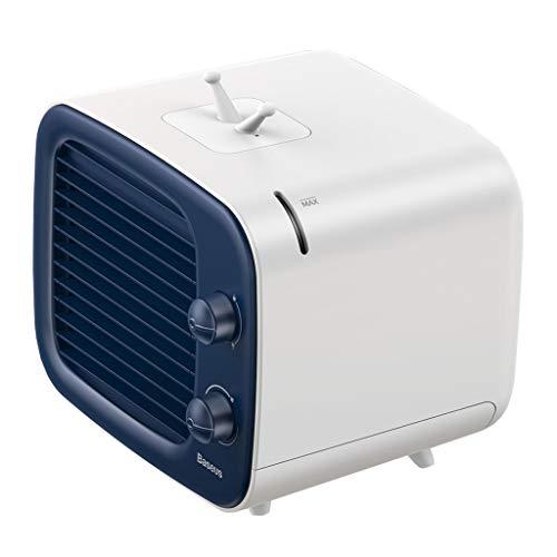 Haludock 3-in-1-Kühler Befeuchtet Schüttelfrost Luft Persönliche Klimaanlage Kühler Luftbefeuchter Tragbarer Mini-Tischventilator -