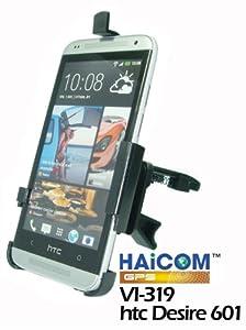 Haicom KFZ Lüftungsgitter Halterung mit 360° Rotation Auto Halter Halterung für HTC Desire 601 Autohalter Autohalterung vibrationsfreies 1-Klick Befestigungssystem PDA-Punkt