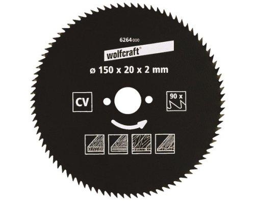 wolfcraft 1 Kreissägeblatt CV, 100 Zähne ø140mm