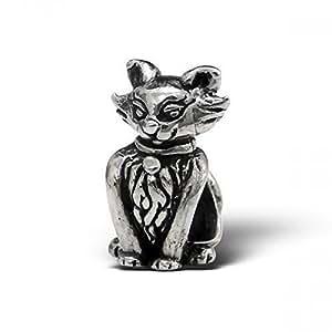 Disney en forme de chat en argent Sterling Style Pandora avec Charms Perles Beads pour Bracelet Pandora